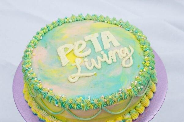 Astonishing Rainbow Lemon Buttercream Frosting Peta Funny Birthday Cards Online Unhofree Goldxyz