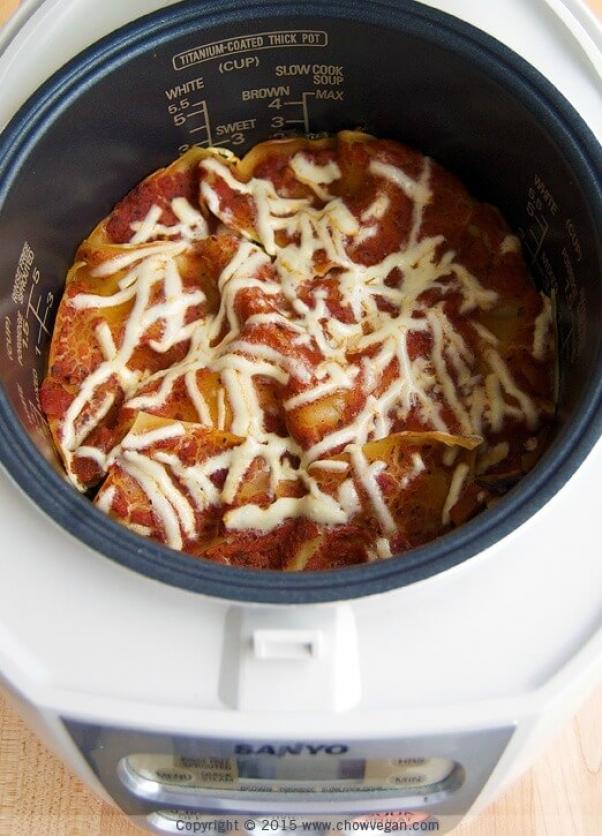 Rice Cooker Lasagna