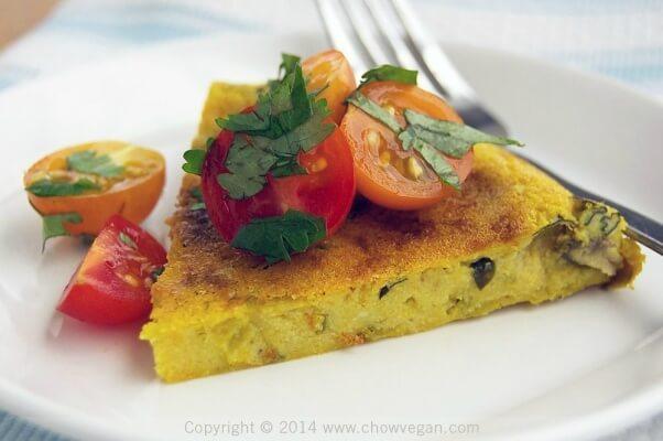 Rice Cooker Vegan Frittata Slice