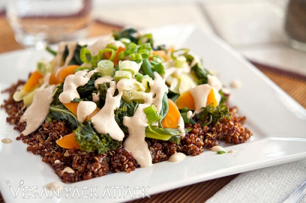 Steamed veggies and quinoa