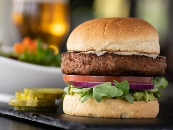 Image of the Beyond Burger from Yard House