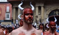 Mass 'Bloodbath' in Pamplona's Main Square Marks Start of Grisly Running of the Bulls