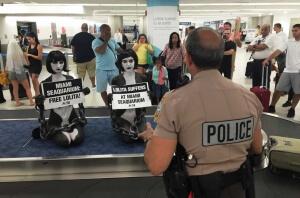Lolita protest at Miami Airport
