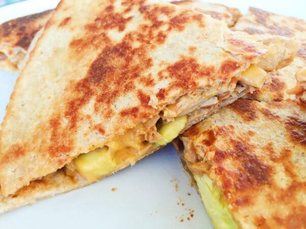 Vegan Chicken Quesadilla