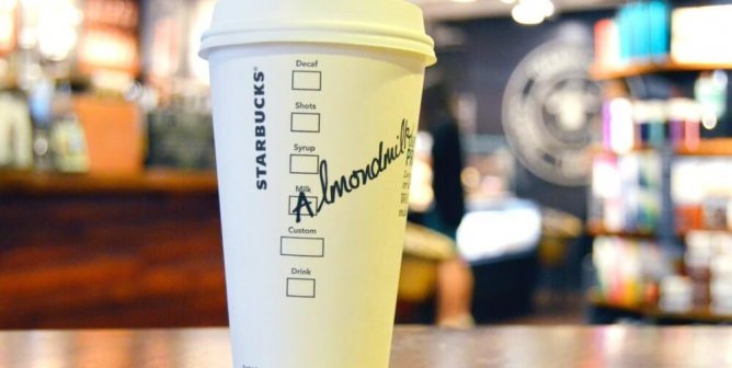 You Asked, Starbucks Listened—Almond Milk Announced Nationwide