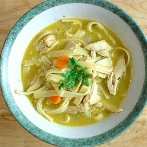 vegan chicken soup
