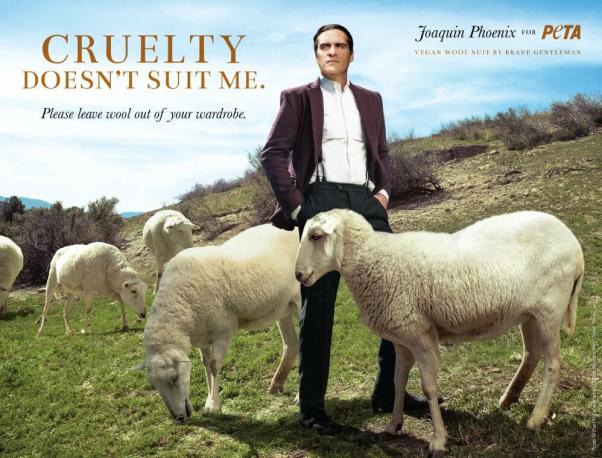 Joaquin Phoenix in Anti Wool Ad