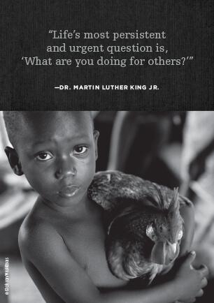 Martin Luther King, Jr. postcard