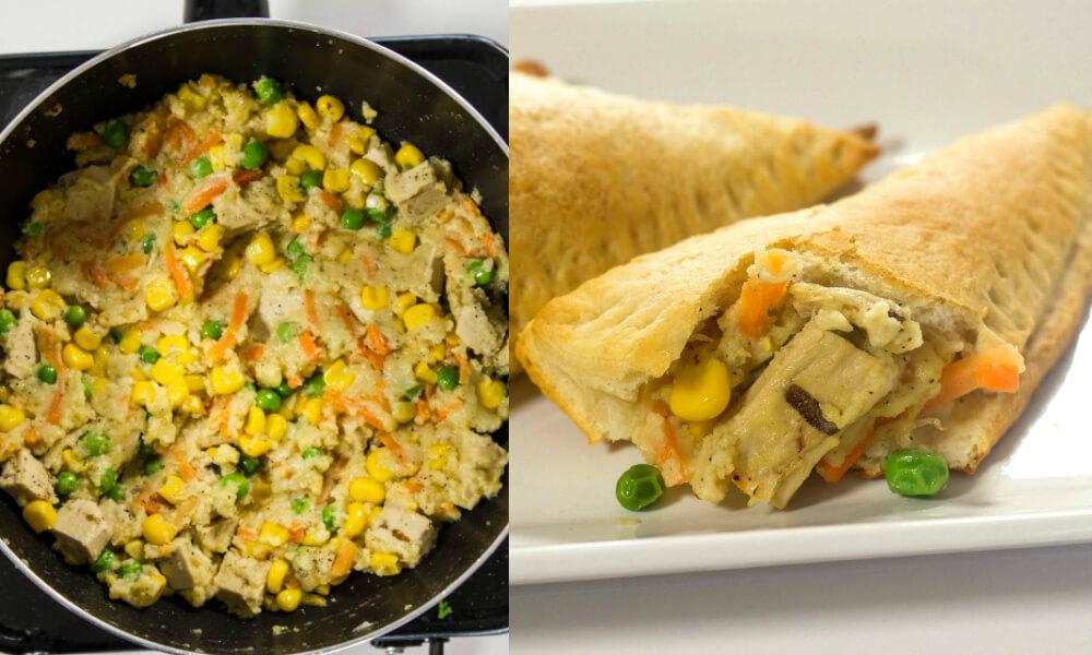 Chicken Pot Pie Empanadas (Vegan)