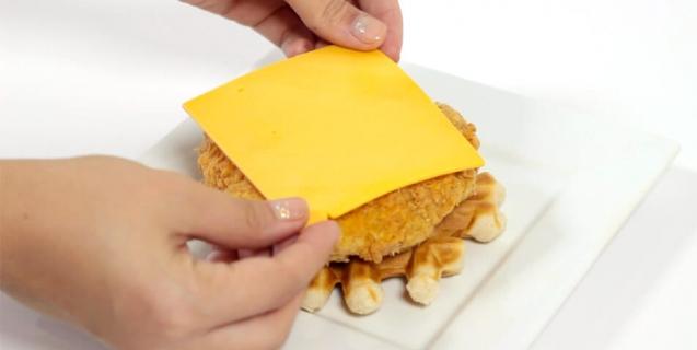 vegan-chicken-and-waffle-cheese