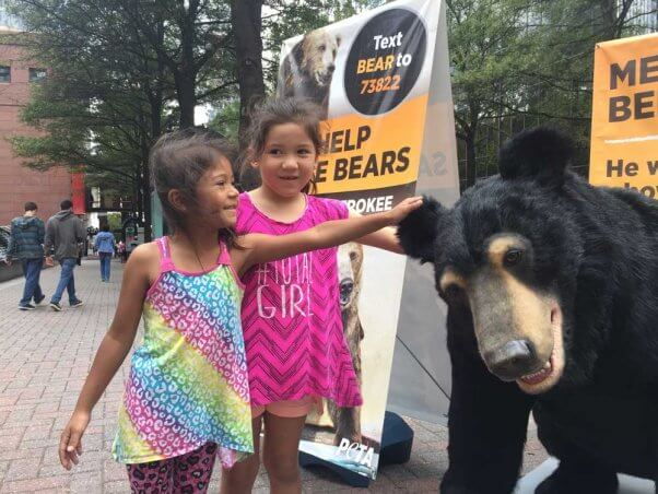 bernard-bear-with-two-girls