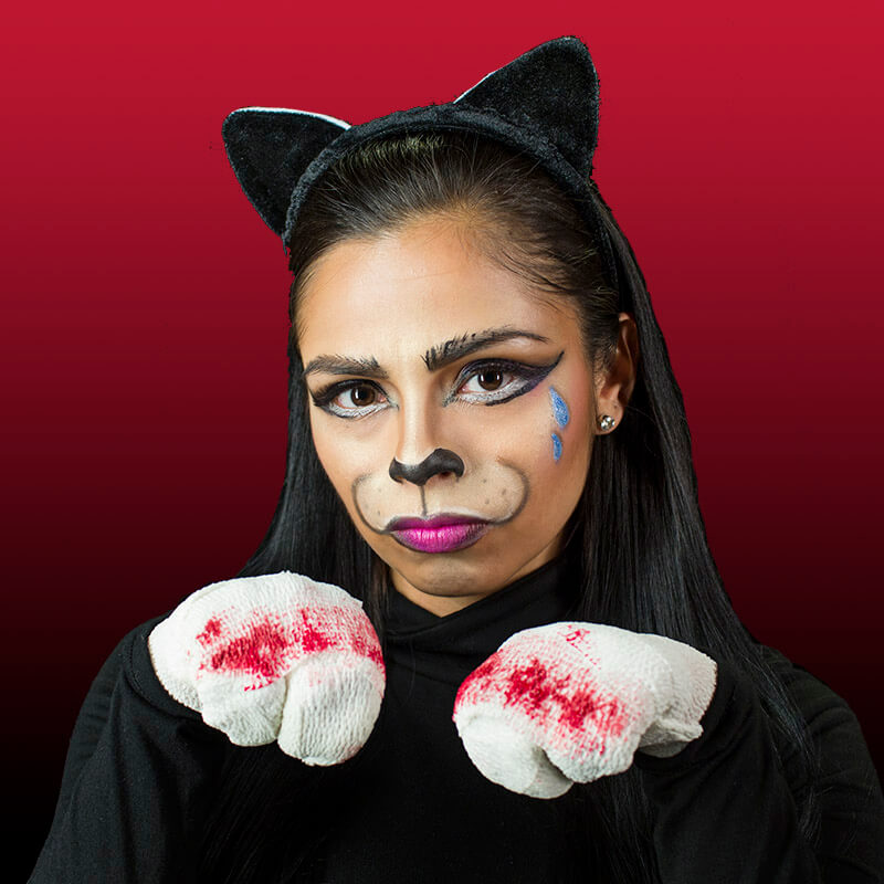 The Perfect Cat Makeup Tutorial For Any Costume Party Peta - Cat-costume-makeup