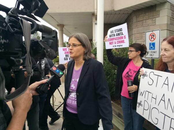 Anita Kranjc at Toronto Pig Save demo