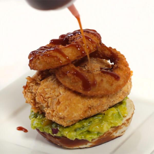 vegan-stacked-burger-onion-rings