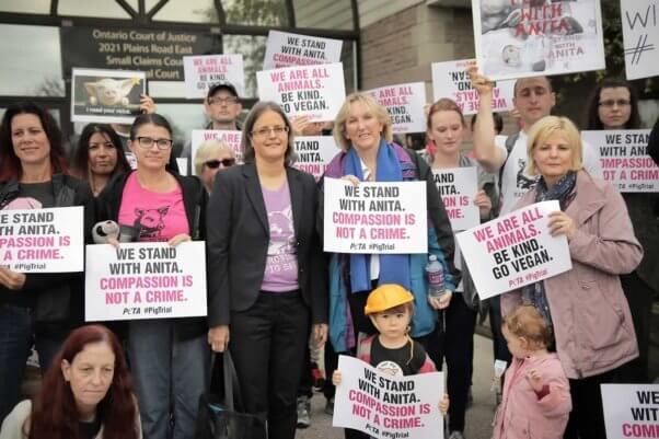 Ingrid at Toronto Pig Save demo