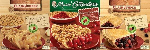 Accidentally Vegan Pie Collage Claim Jumper Marie Callender's Cherry Apple Razzleberry