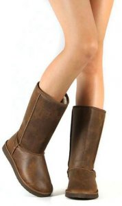 brown faux leather vegan uggs