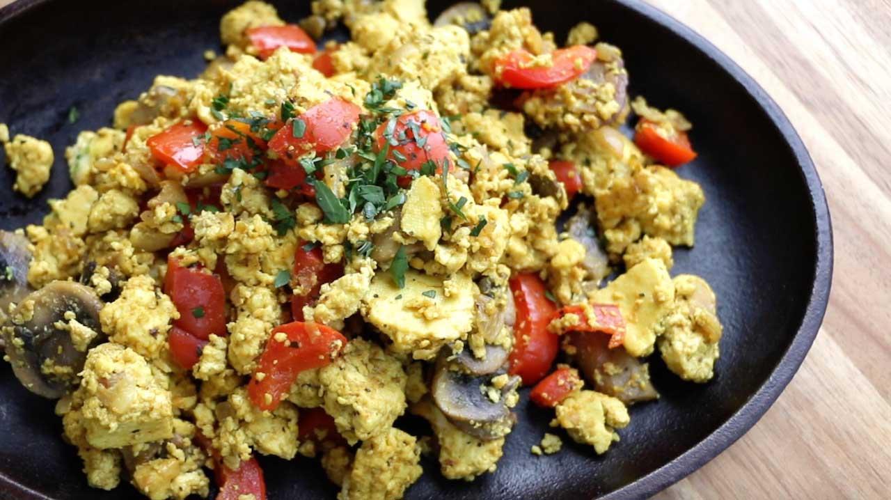 The Buddhist Chef's Tofu Scramble | Vegan Recipes