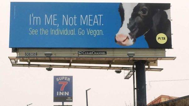 """PETA's """"I'm Me, Not Meat"""" billboard in Dallas, TX"""