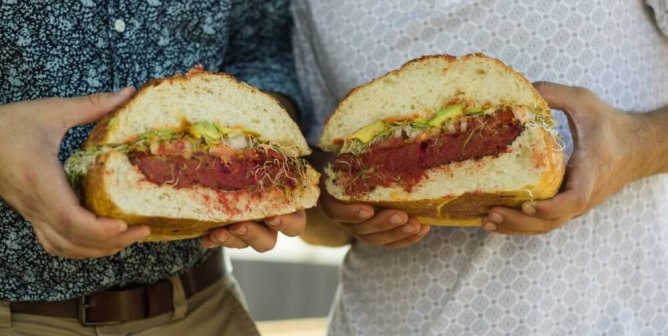 You May Lose Your Mind When You See This Giant Vegan Burger