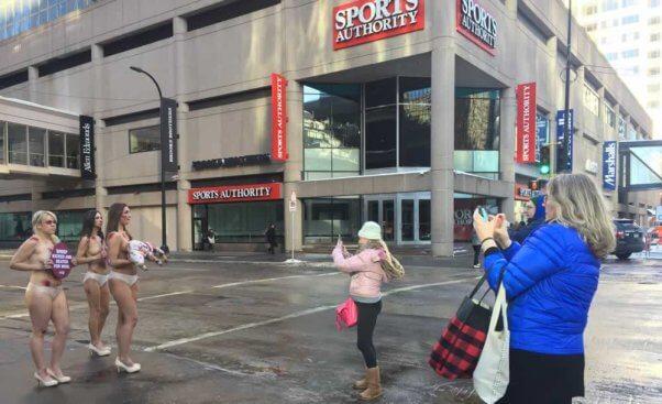 Anti-wool protest in Minneapolis, MN