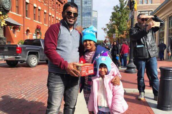 Happy family with Tofurky roast at Ft. Worth giveaway