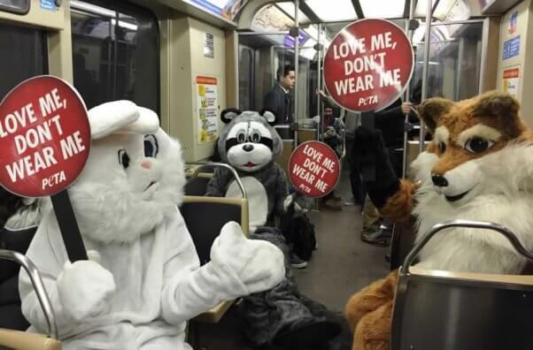 PETA mascots in Chicago