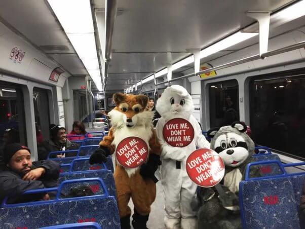 PETA mascots in Cleveland