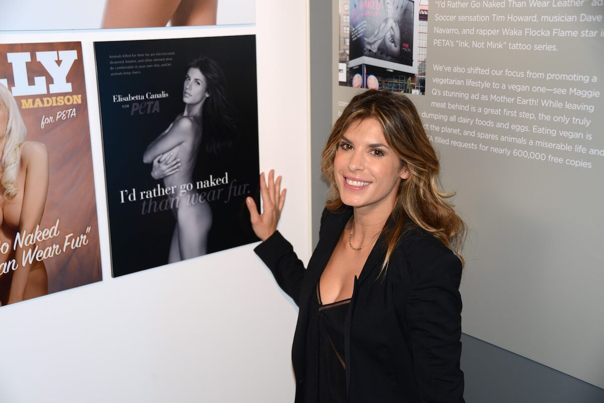 Actress Elisabetta Canalis attends the unveiling of Jhene