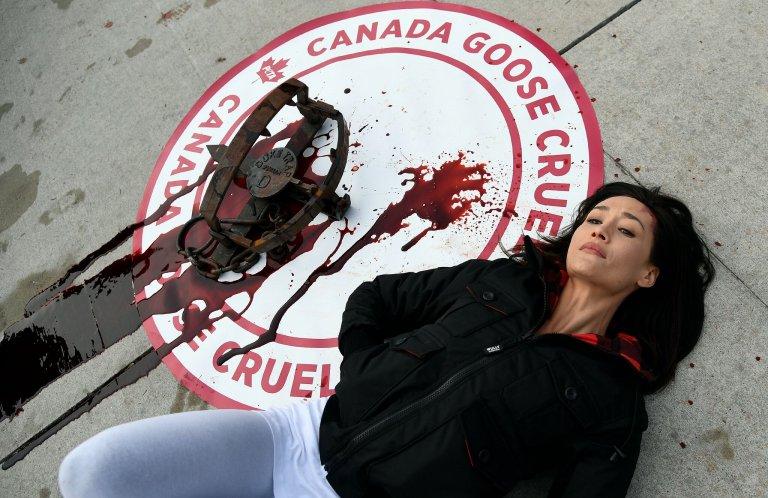 canada goose jacket protest