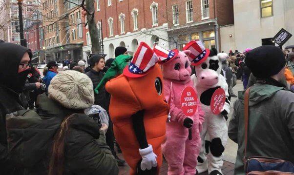 PETA mascots in parade for 2017 inauguration