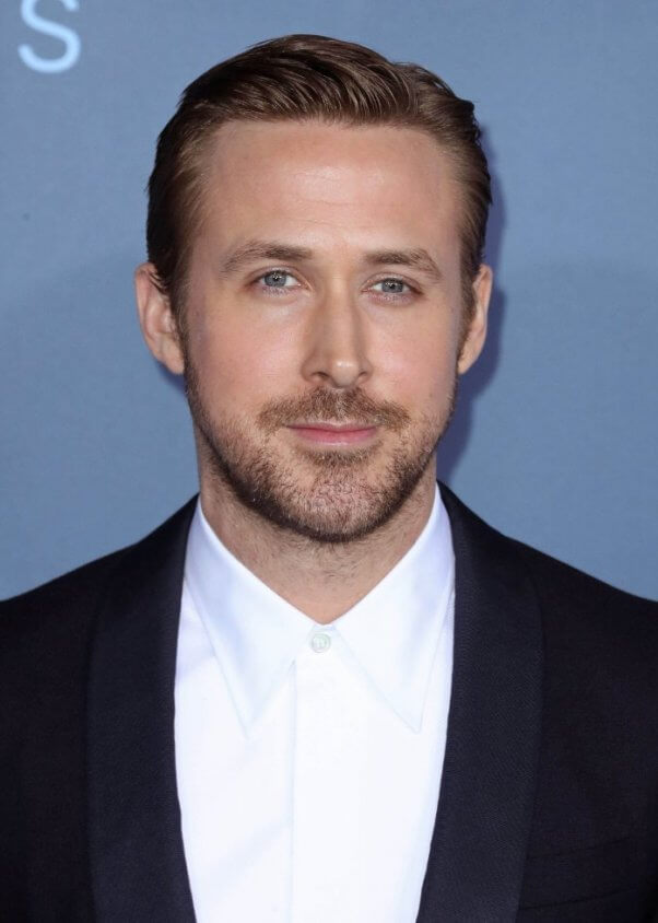Ryan Gosling with facial hair