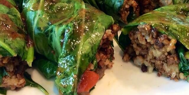 Vegan soul food marinated and stuffed collard greens peta vegan stuffed marinated collard greens from ohhdelcious cookbook forumfinder Image collections