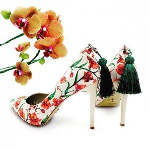 floral pattern vegan stiletto