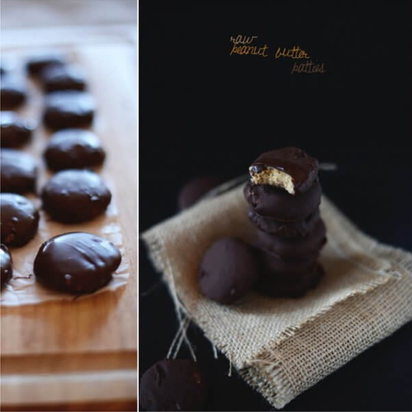 recipes for vegan girl scout cookies: raw peanut butter patties