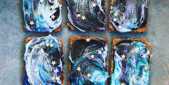 This Vegan Blogger Makes Galaxy Doughnuts, Cheesecake, and Now Toast