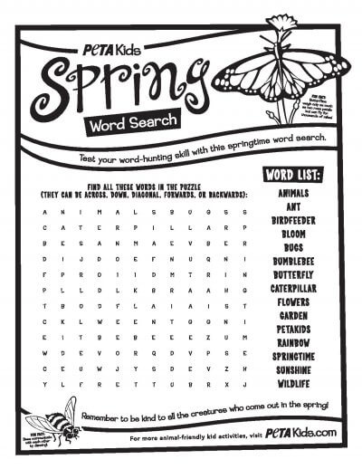 Free Worksheets plant worksheets for 2nd grade : Plant Seeds of Kindness in Your Students This Spring : PETA