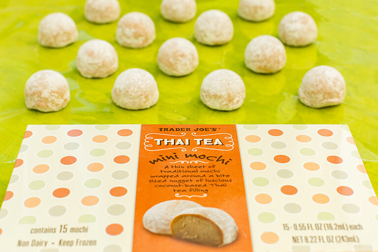 Thai Tea Mini Mochis From Trader Joes