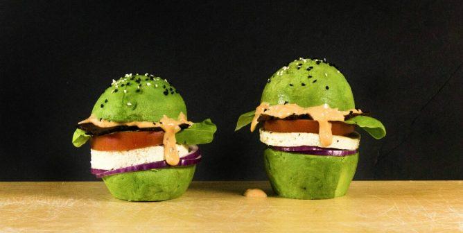 Low-Carb Vegan Breakfast Burger Idea: Use Avocado Instead of Buns