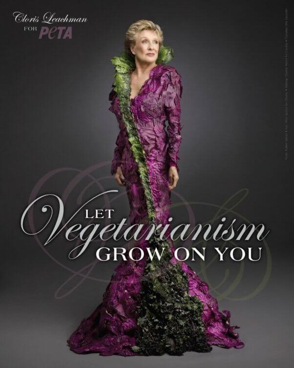 Cloris Leachman vegetarian lettuce gown