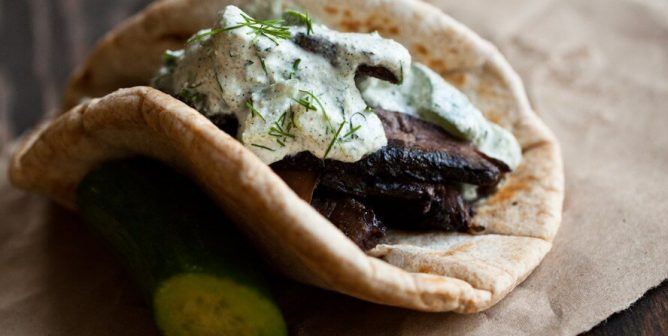 This Portobello Gyro Is the Item Your Lunch Box Has Been Missing