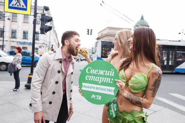 The Lettuce Ladies make new friends in Russia