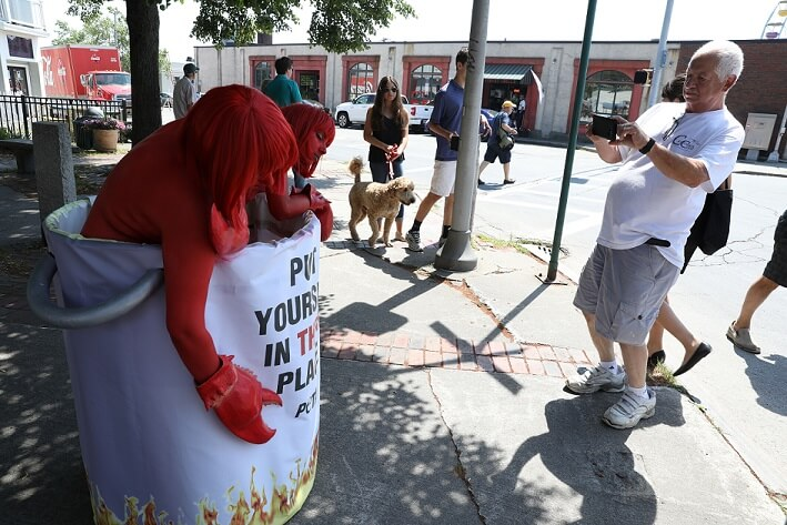 Claws Come Out as PETA Members Protest Maine Lobster Festival | PETA