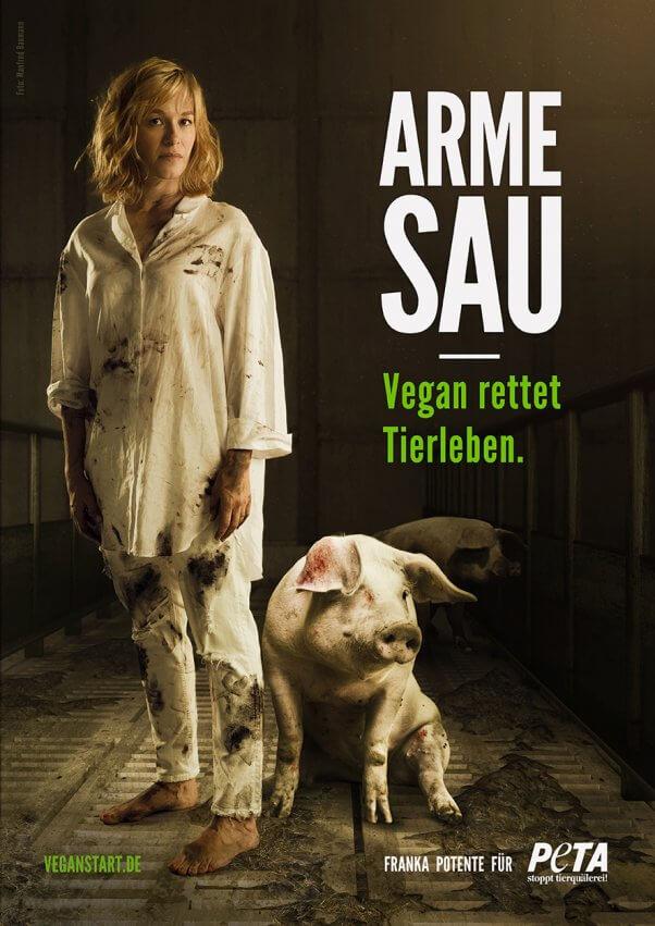 PETA Germany vegan ad Franka Potente
