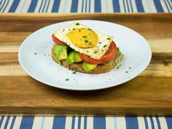 vegan egg on toast