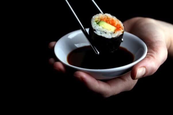 olives for dinner vegan sushi with carrot salmon