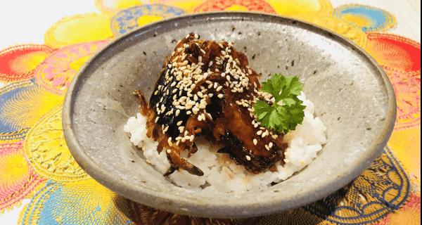 sweet potato unagi vegan sushi