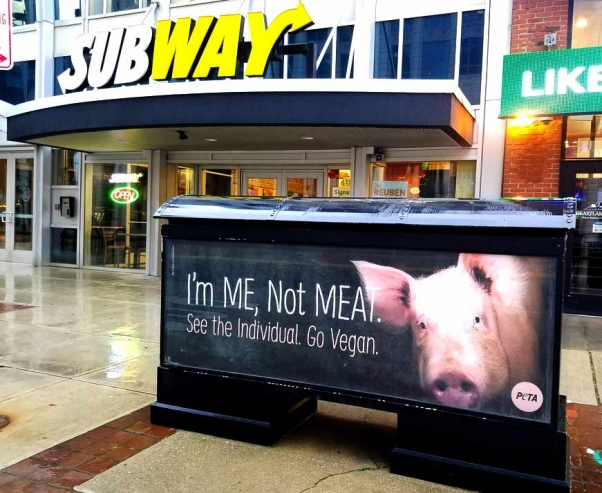 PETA's 'I'm Me, Not Meat' Holiday Ad Blitz hits Columbus, Ohio
