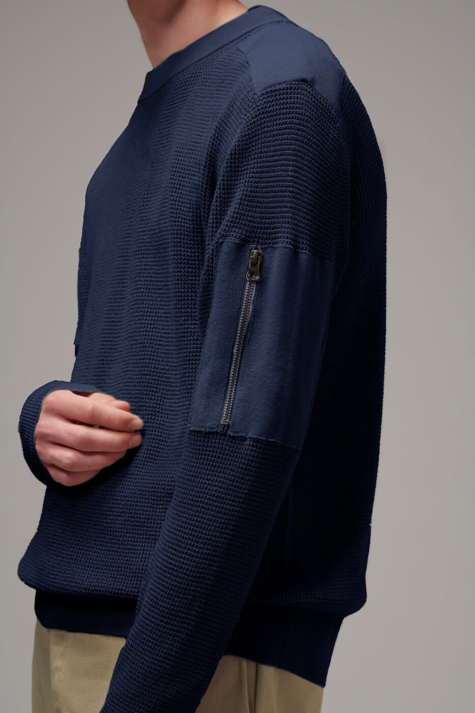 Mens patch sweater