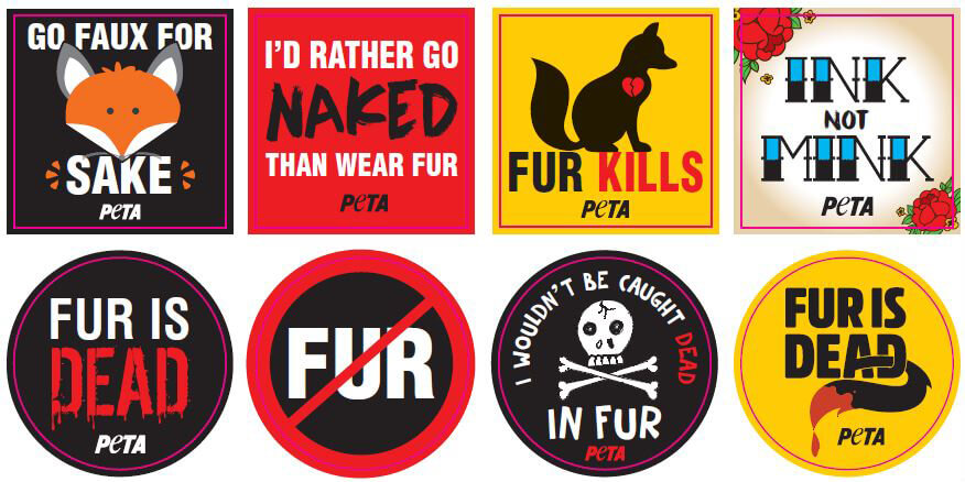 Fur is Dead: To Help Kill the Industry, Order Free Stickers